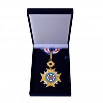 Řádová medaile v sametové krabičce